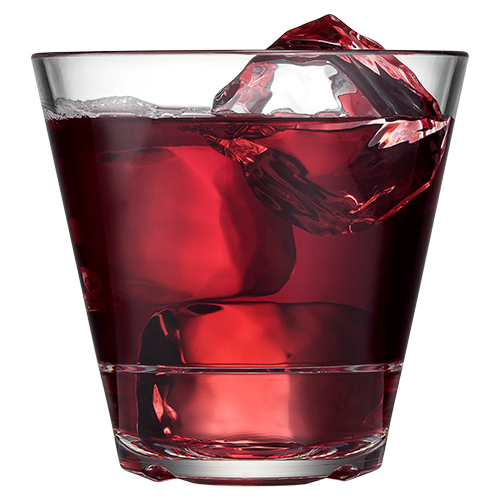 Caliber 12oz Double Rocks with Cranberry Juice