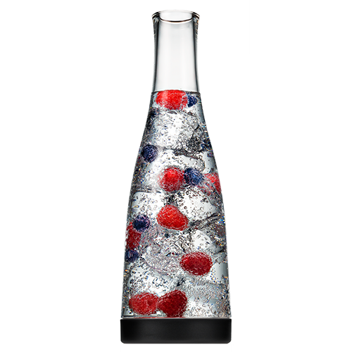 Carafe with Black Base Filled with Berries