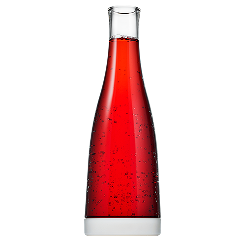 Cranberry Juice in 32oz Carafe with White Removable Base