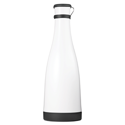 White 32oz Carafe with Black Removable Base and Lid