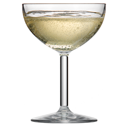 Coupe Glass 8oz with Champagne