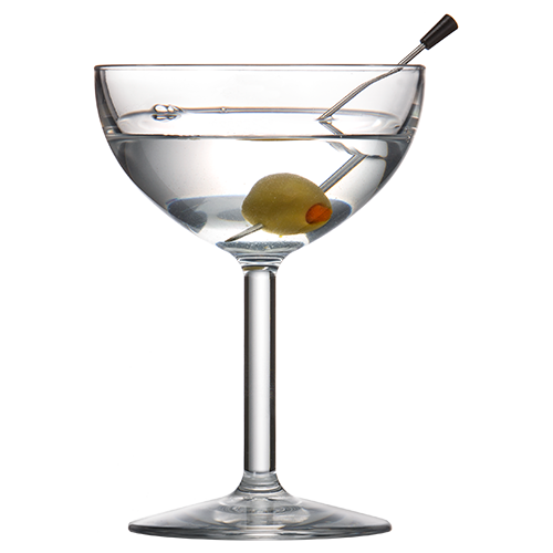 Coupe Glass 8oz with Martini