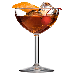 Coupe Glass 8oz with Old Fashioned