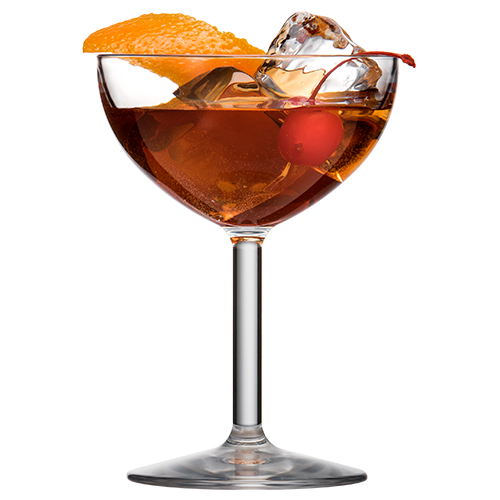 Coupe Glass with Old Fashioned