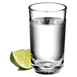 Elite 2oz Shot Glass with Tequila