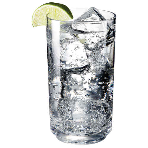 Elite 14oz Tall Glass with Soda Water