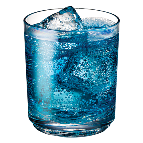 Elite 12oz Tumbler with Blue Sports Drink