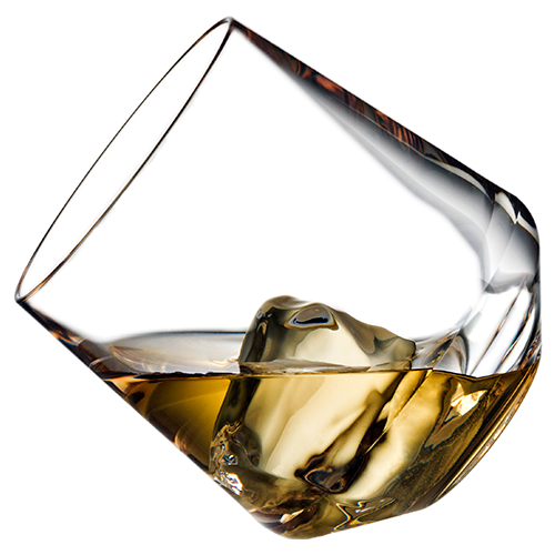 Stemless Wine 12oz Glass with Scotch Tipped