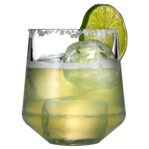 Stemless Wine 12oz Glass with Margarita