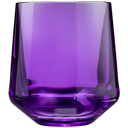 Stemless Wine 12oz Purple