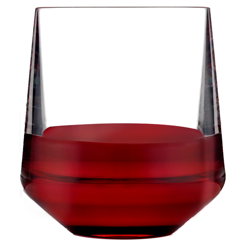 Stemless Wine 12oz Glass with Red Wine