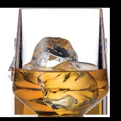 Stemless Wine 12oz Glass with Scotch on Rocks