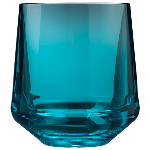 Stemless Wine 12oz Glass Teal
