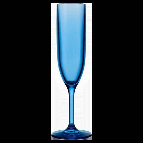 Champagne Flute 6oz Blue