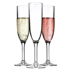 Group of Champagne Flutes