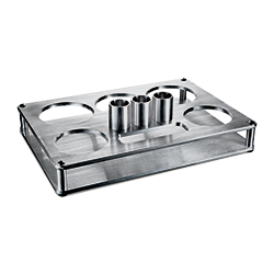 Billet Floating Bottle Service Tray Silver Finish